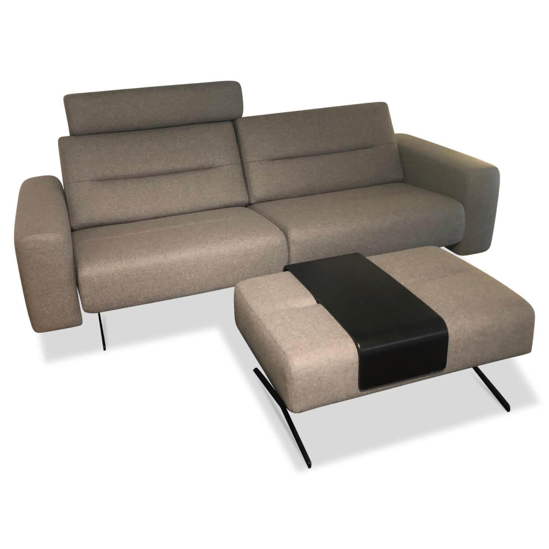Stressless Sofa Stella Zweisitzer Stoff Calido Light Grey ...