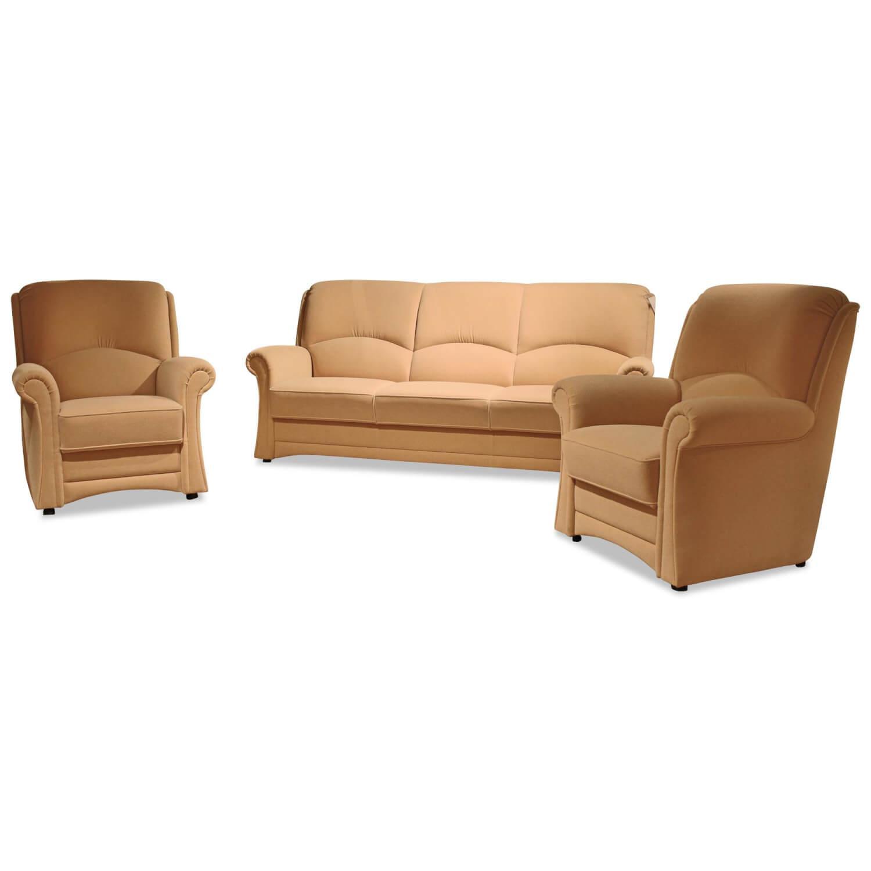 Garnitur Lux Medico 360 Stoff Beige 1 Sofa 2 Sessel Wemafa Sofas Gunstig Kaufen Mobelfirst