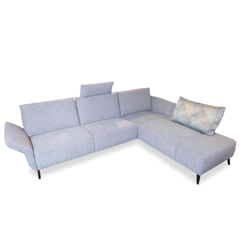 Ecksofa Vila Stoff Grau Relaxfunktion Garnituren Sofas Mobelfirst