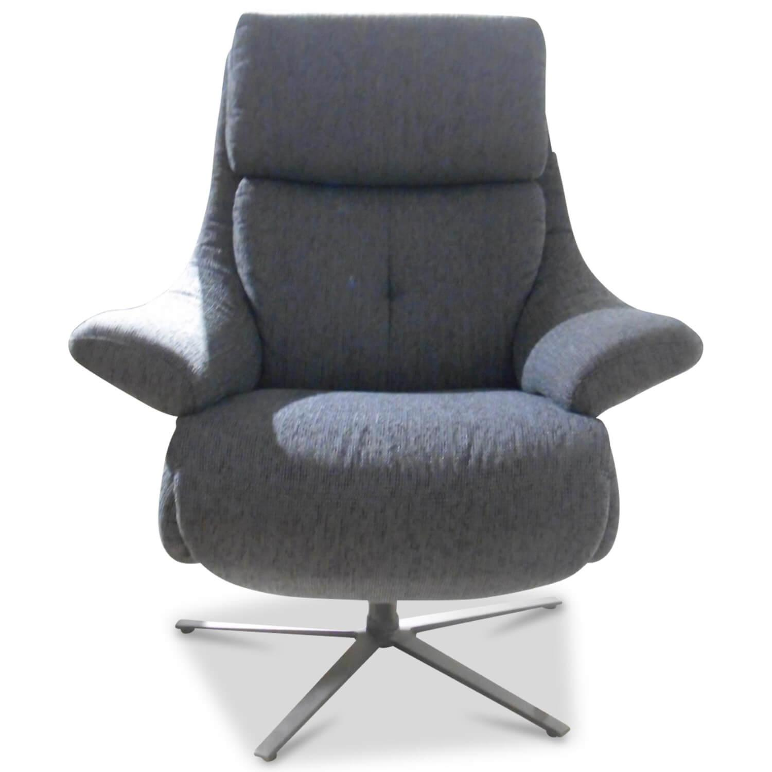 Sessel 7702 36 S14 Stoff Blau mit Relaxfunktion
