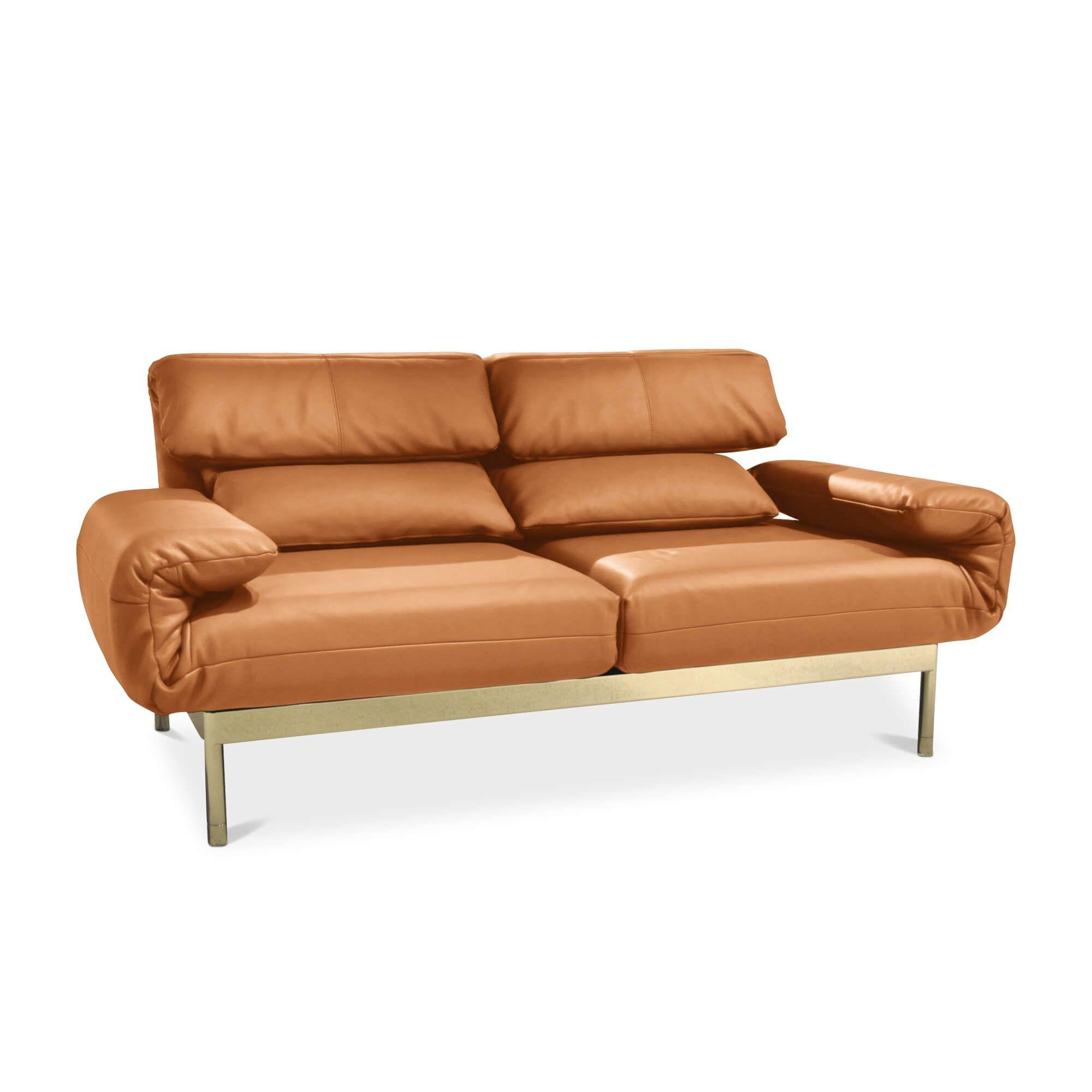 Sofa Plura in Orange stufenlos verstellbar – Rolf Benz – Sofas
