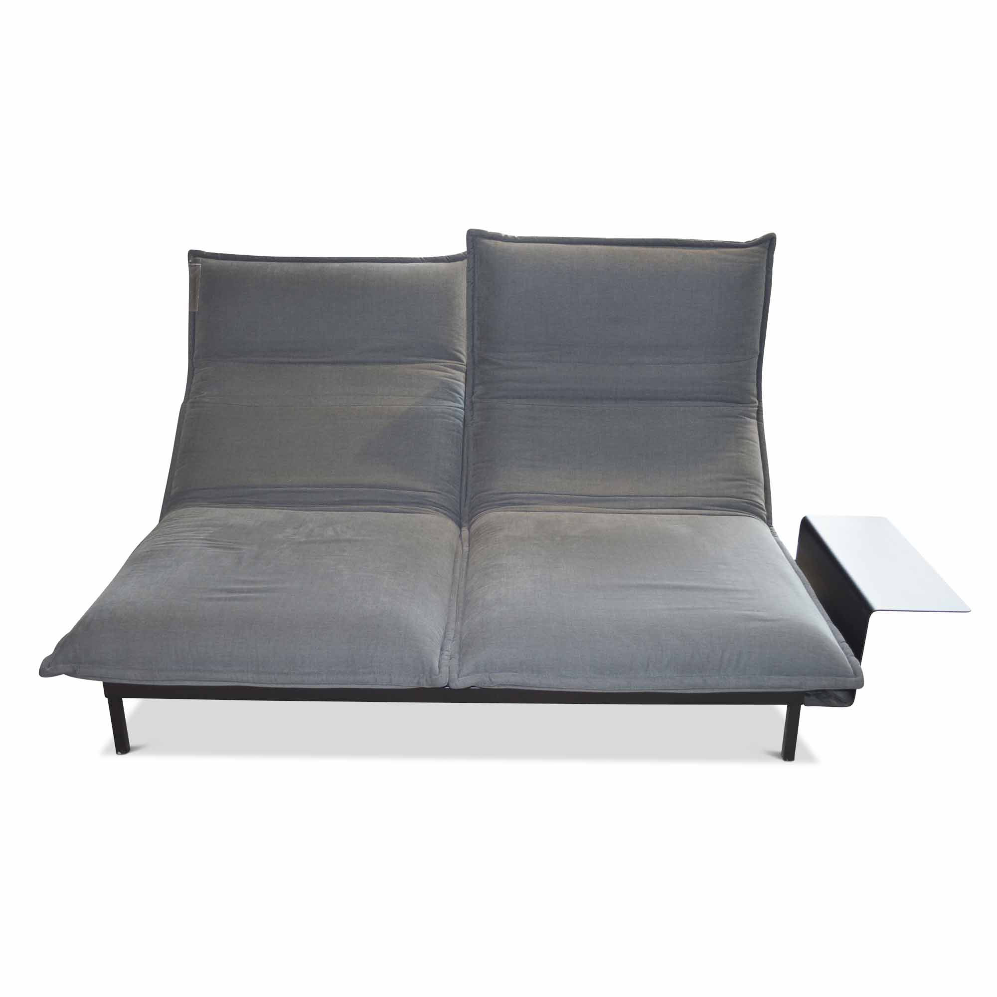 rolf benz designer sofa nova mit ablage stoff grau ebay. Black Bedroom Furniture Sets. Home Design Ideas