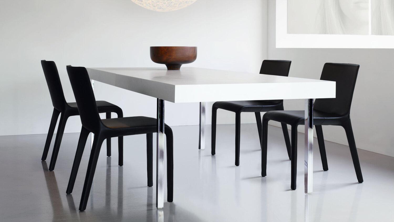 4er Set Stuhl Gio Leder Schwarz – Walter Knoll – Stühle
