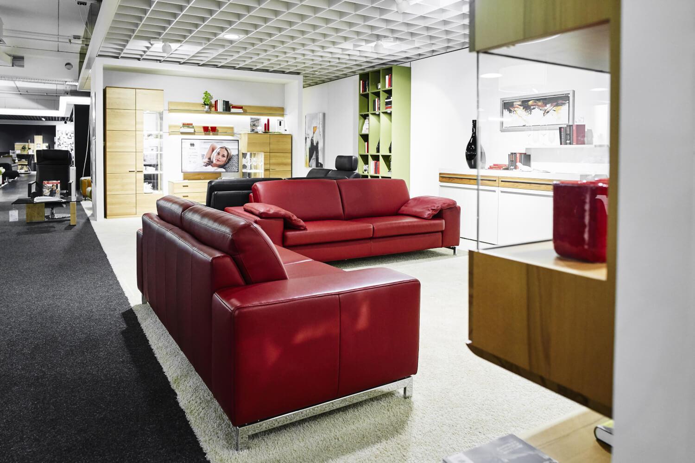 Garnitur Mr 2875 Leder Rot Sofas Sessel Musterring Sofas
