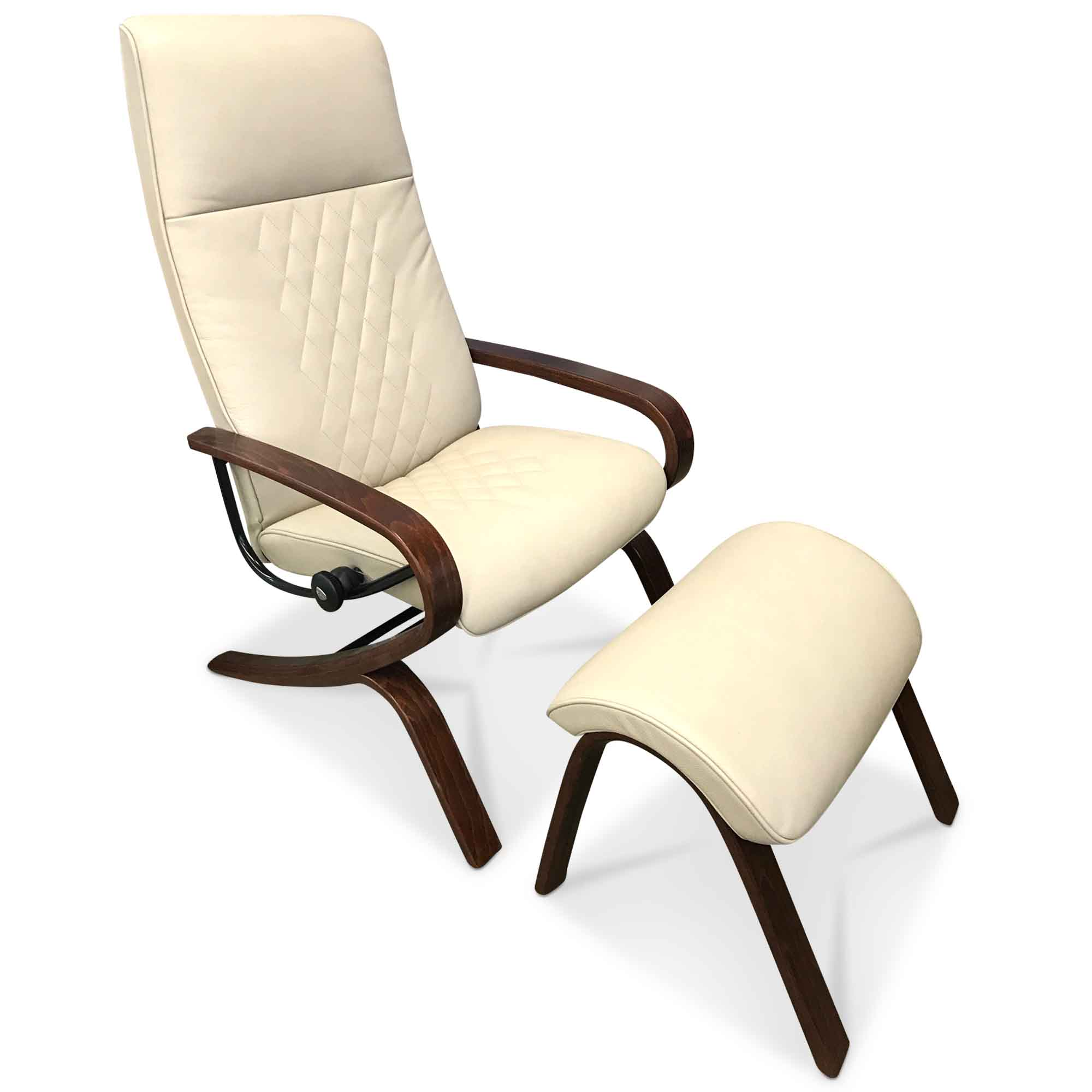 stressless designer sessel michael mit hocker leder beige ebay. Black Bedroom Furniture Sets. Home Design Ideas