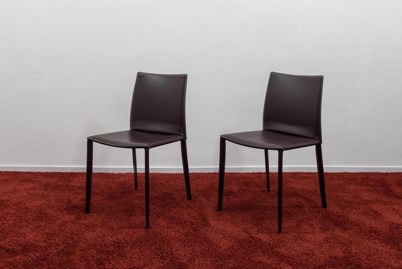 Stuhl Linda Leder Braun | Esszimmer | WOHNRÄUME | MöbelFirst