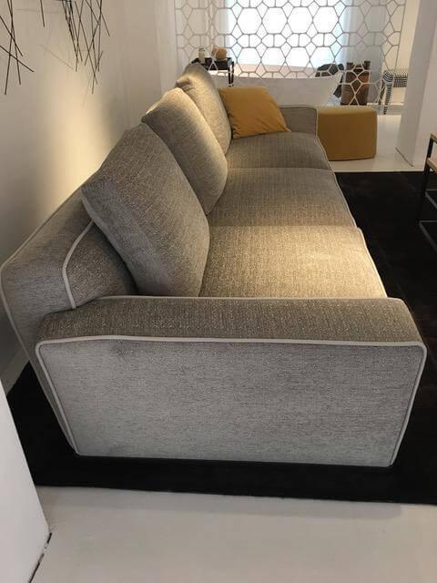Sofa Solatium S288 und 9S190CBD Stoff Elettra Perlgrau mit ...