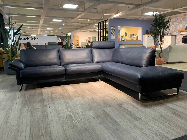 Ecksofa Cl960 Leder 43 850 Indigo Dunkelblau Kufe Hochglanz 2 Sitzer Sofas Sofas Mobelfirst