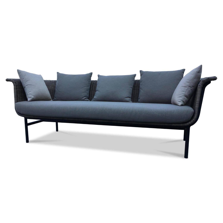 Sofa Lounge Wicked Stoff Stoff Lopi Coconut Braun Grau mit ...