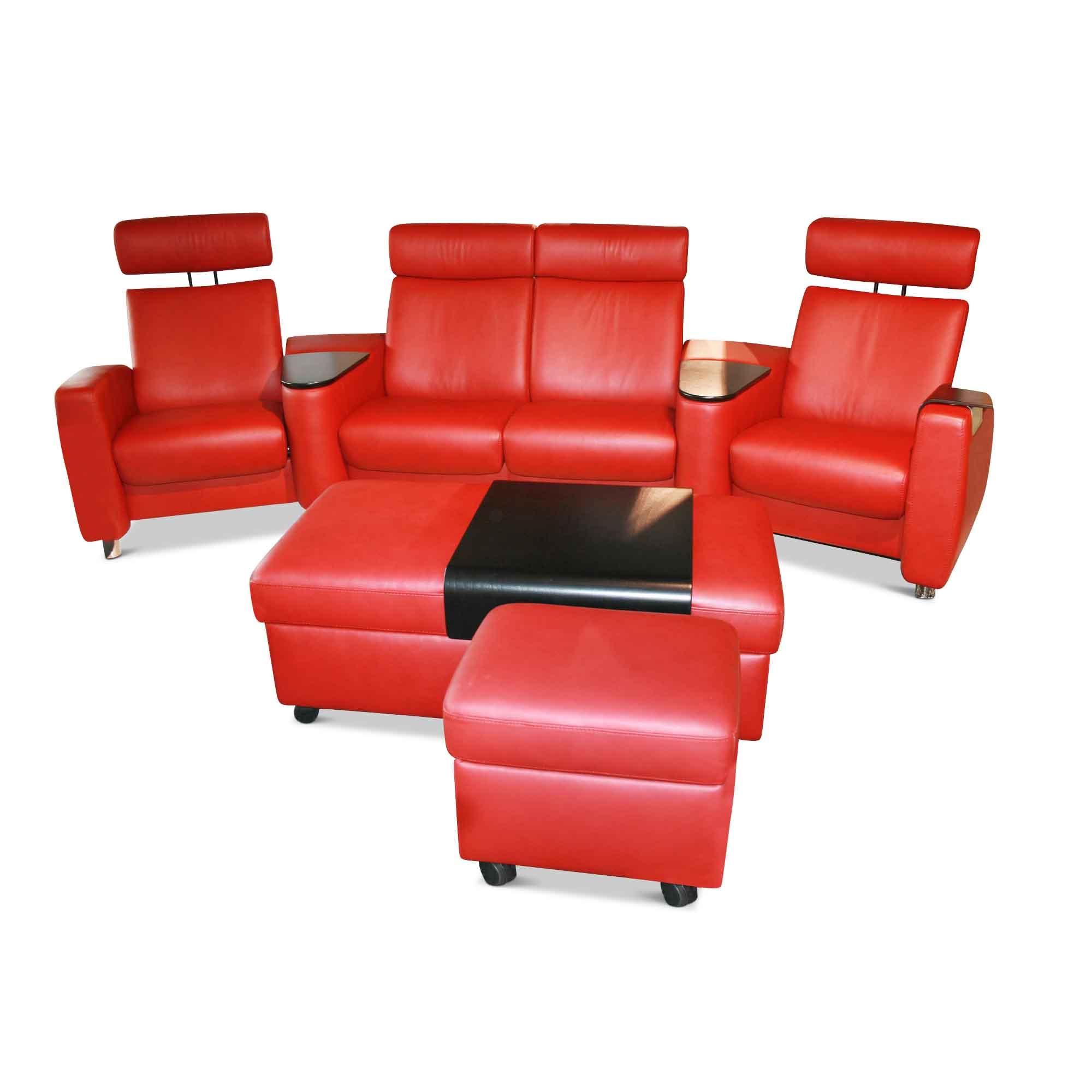 sofa arion mit hocker rot stressless sofas g nstig. Black Bedroom Furniture Sets. Home Design Ideas