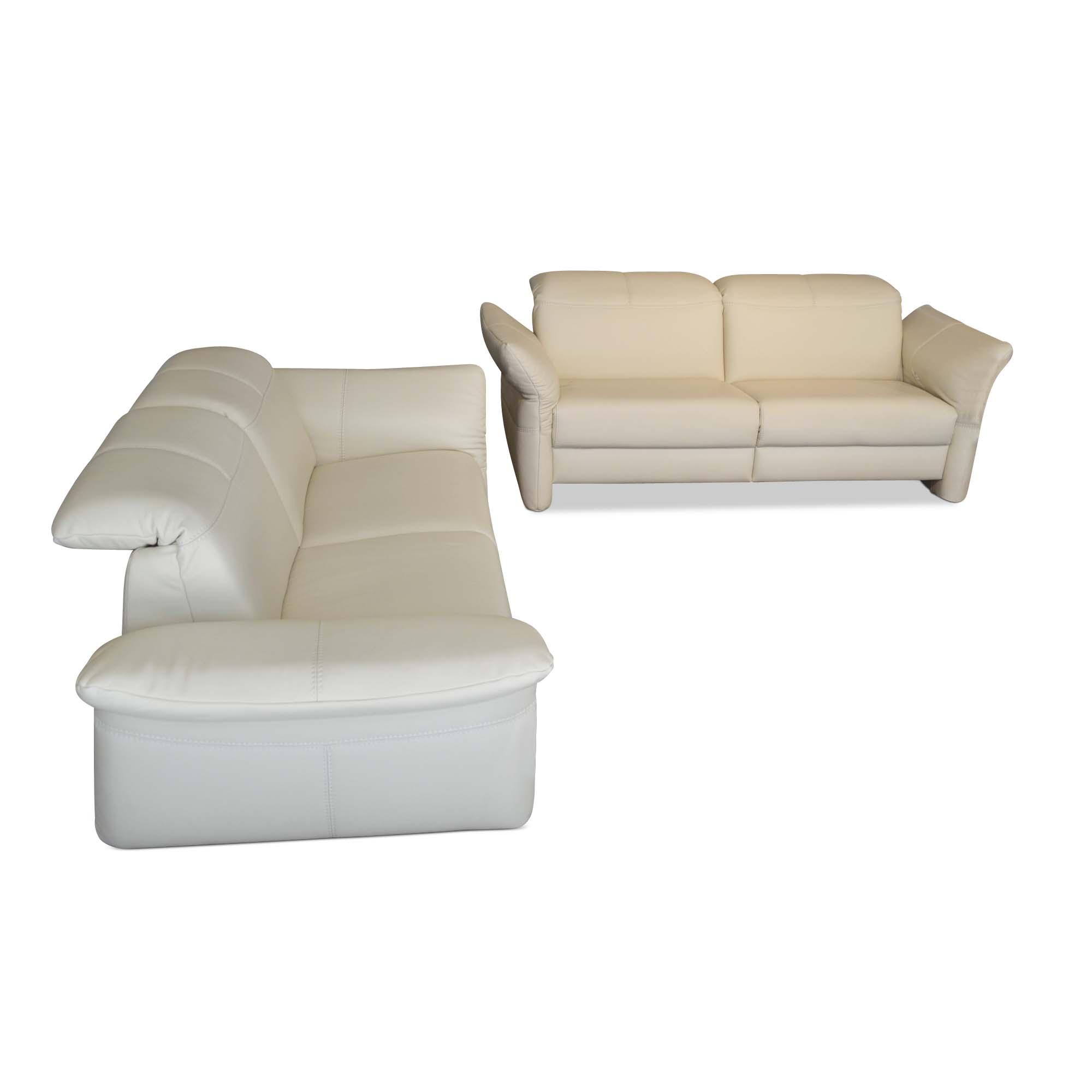 rom designer sofa capri 2er set leder holz beige wei schwarz kunststoff 4260552929563 ebay. Black Bedroom Furniture Sets. Home Design Ideas