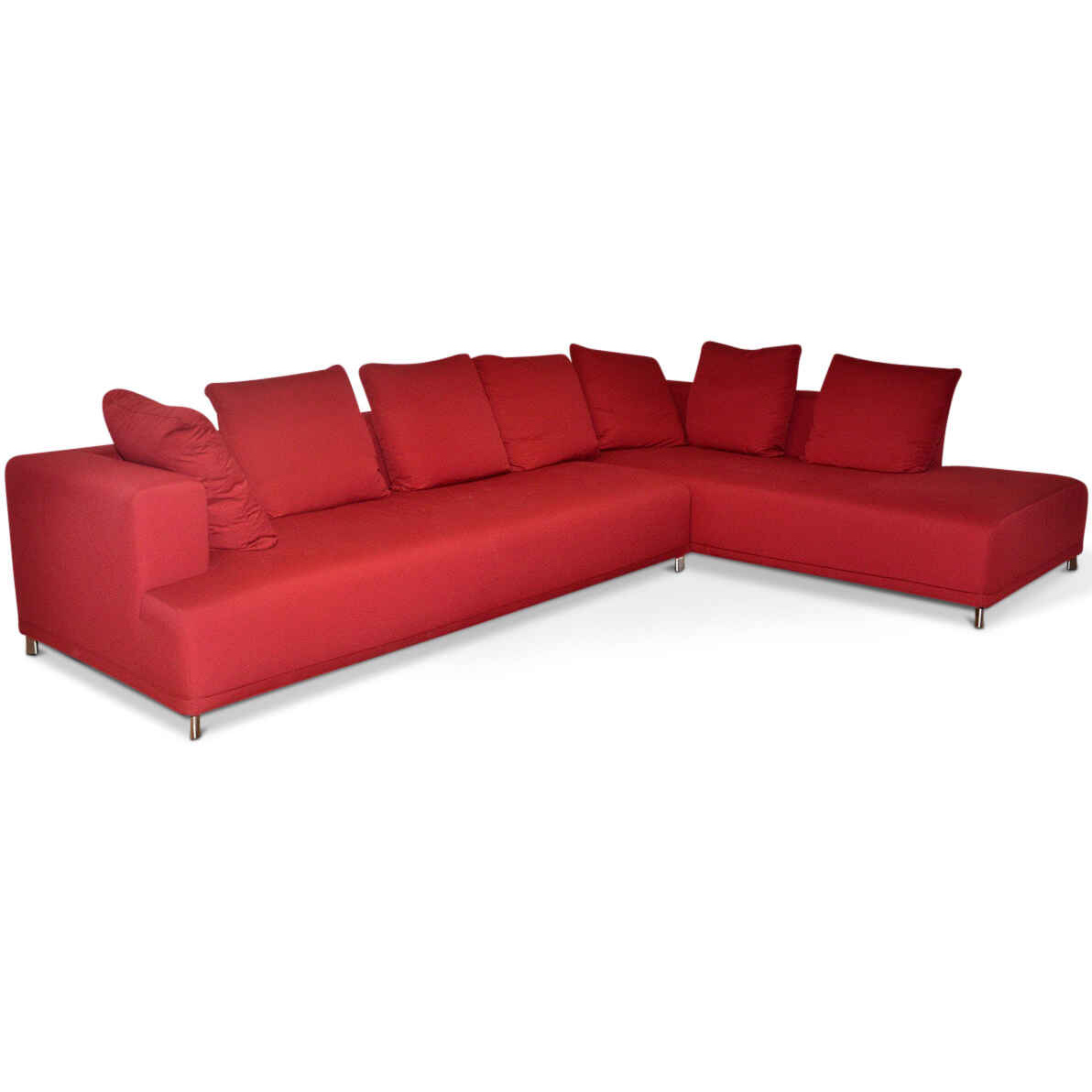 ligne roset designer corner sofa opium fabric steel red stainless steel ebay. Black Bedroom Furniture Sets. Home Design Ideas