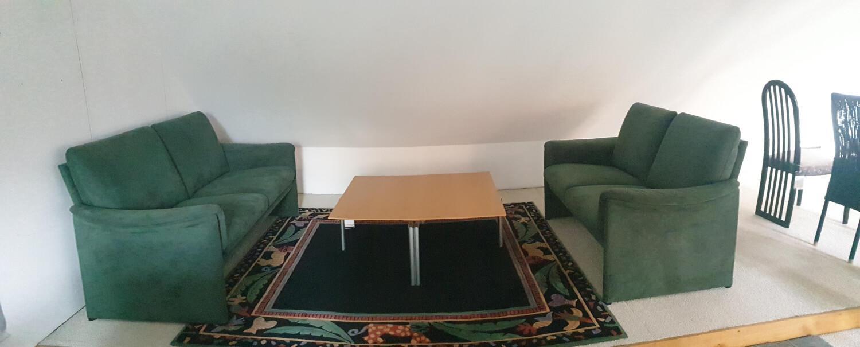 Garnitur Zento Stoff Alcantara Moosgrün 2 Sofas | NEU ...
