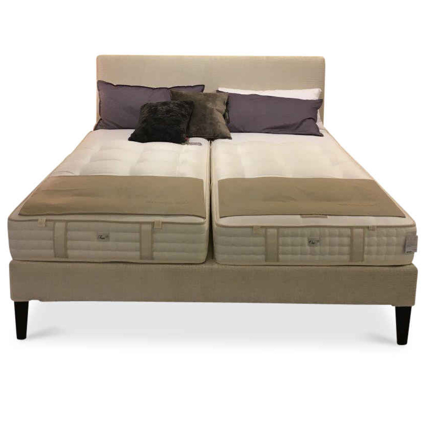 schramm designer boxspringbett basis mit kopfteil lago stoff holz beige ebay. Black Bedroom Furniture Sets. Home Design Ideas
