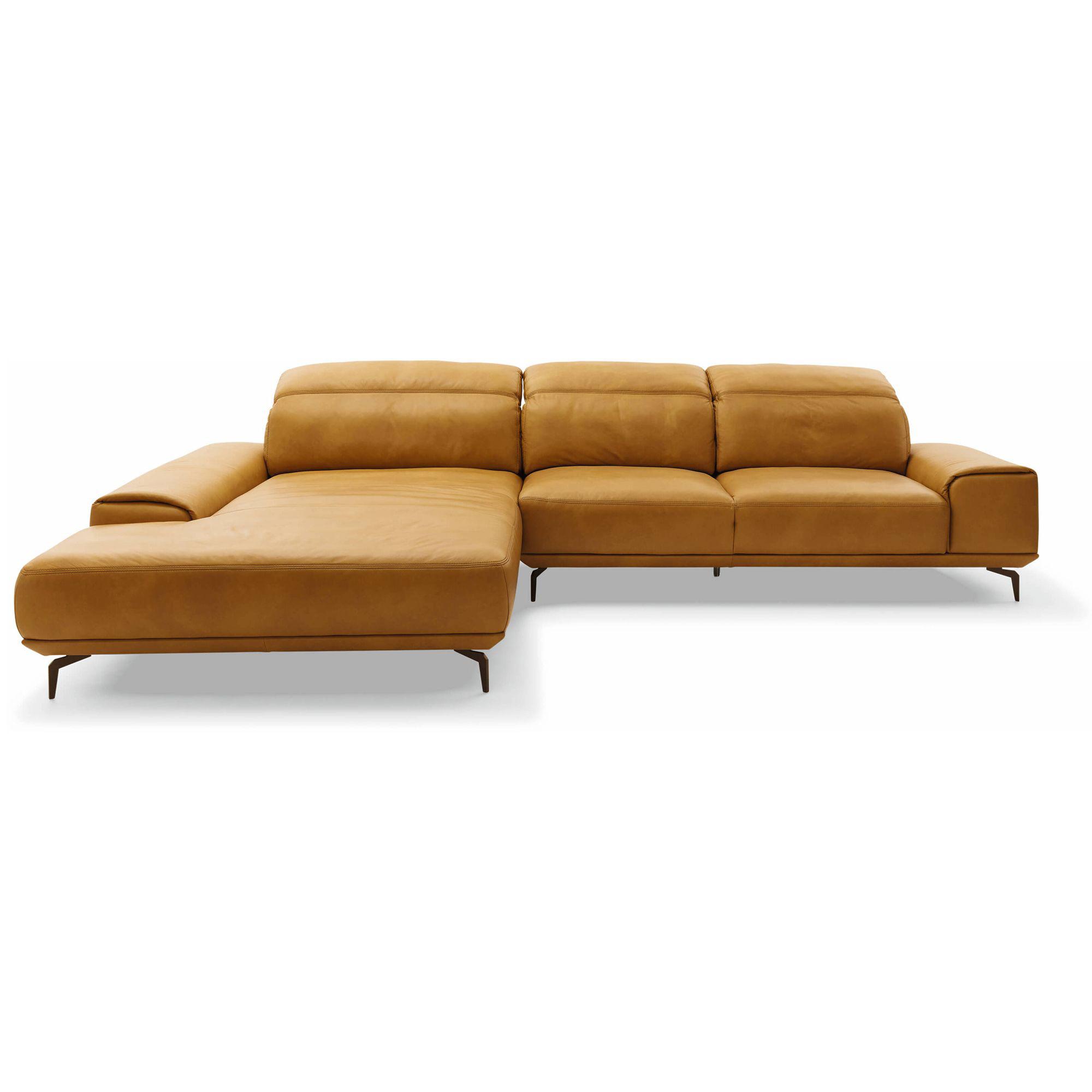 Ecksofa MR 2490 Leder Cognac Longchair Links Mit Elektrischer Schlaffunktion Musterring Sofas Gunstig Kaufen