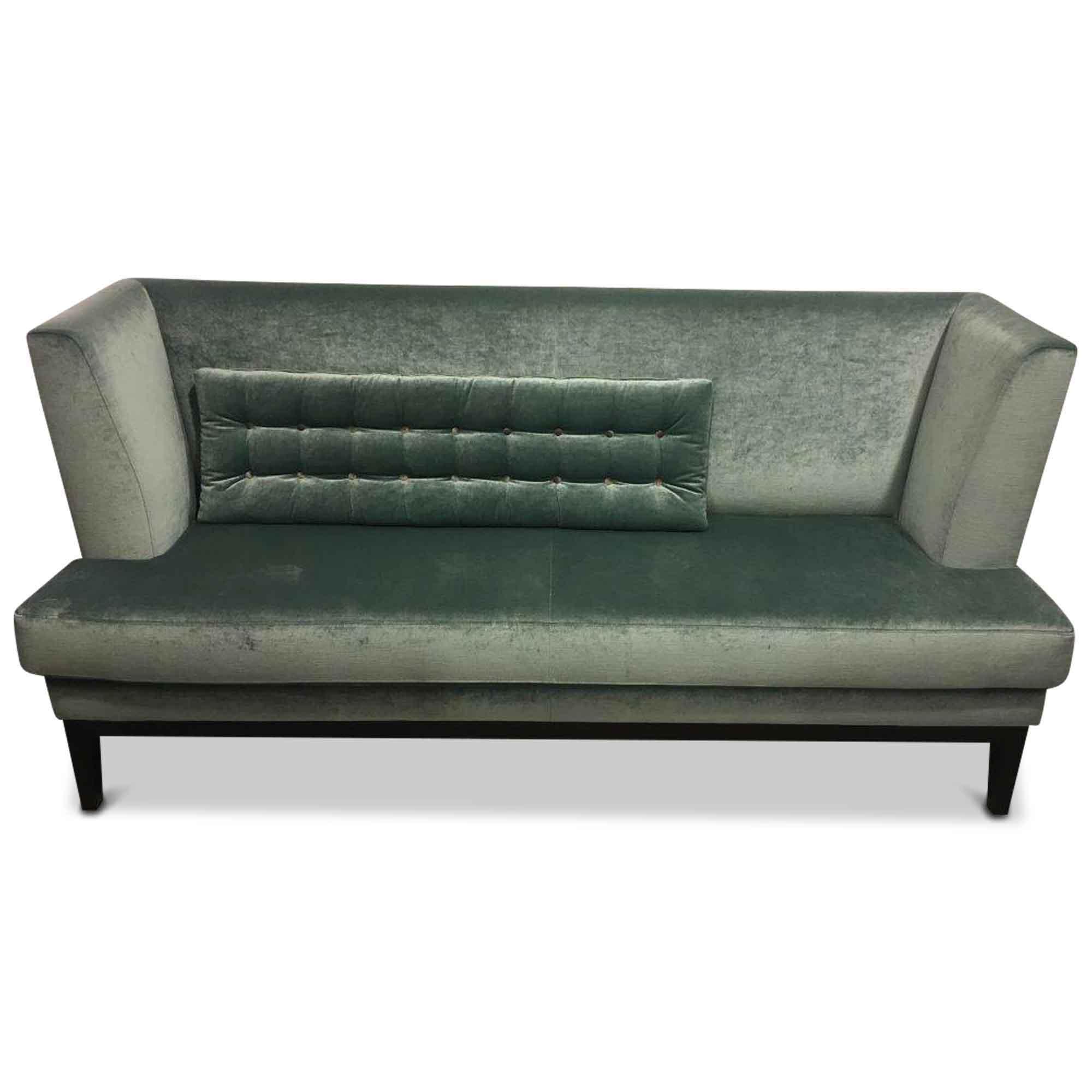 bielefelder werkst tten designer sofa polo stoff holz blau. Black Bedroom Furniture Sets. Home Design Ideas