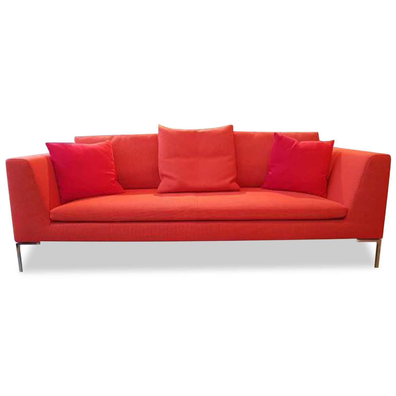 sofa charles stoff rot 3 sitzer sofas sofas m belfirst rh moebelfirst de