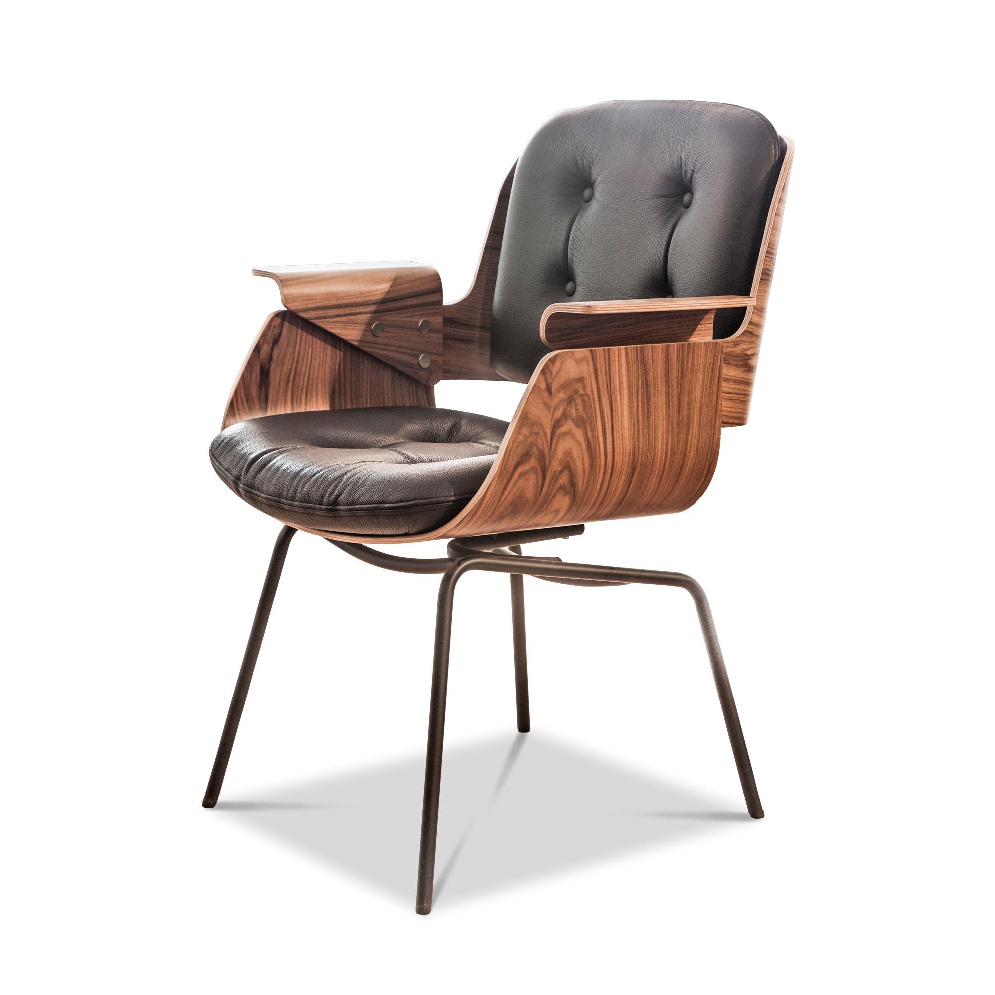 d48 s leder schwarz palisander tecta st hle g nstig kaufen m belfirst. Black Bedroom Furniture Sets. Home Design Ideas