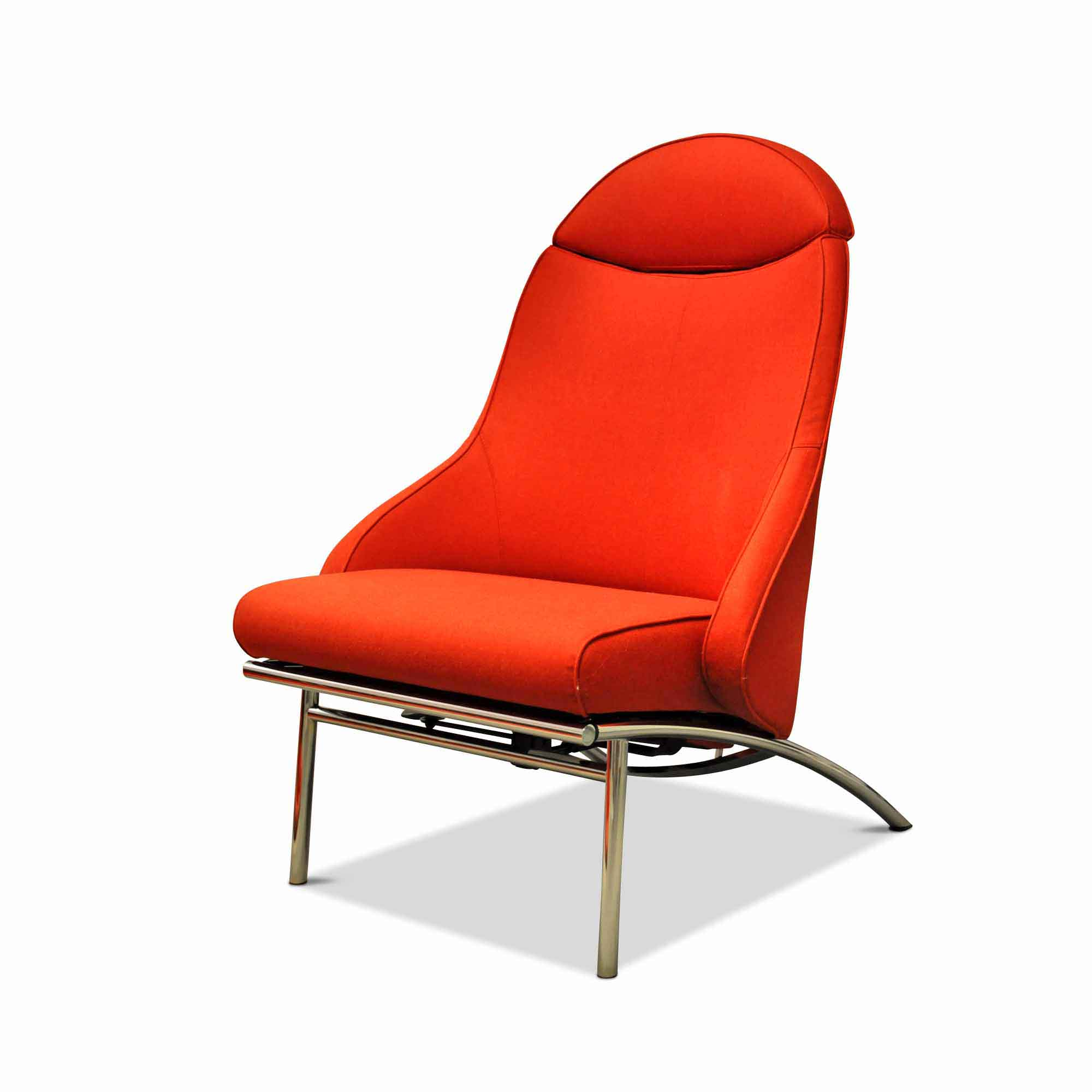 Ip Design Designer Sessel Rocky Stoff Stahl Chrom Orange Ebay