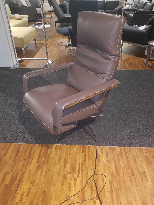 Sessel Mr 496 Leder Braun Mit Elektrischer Verstellbarkeit