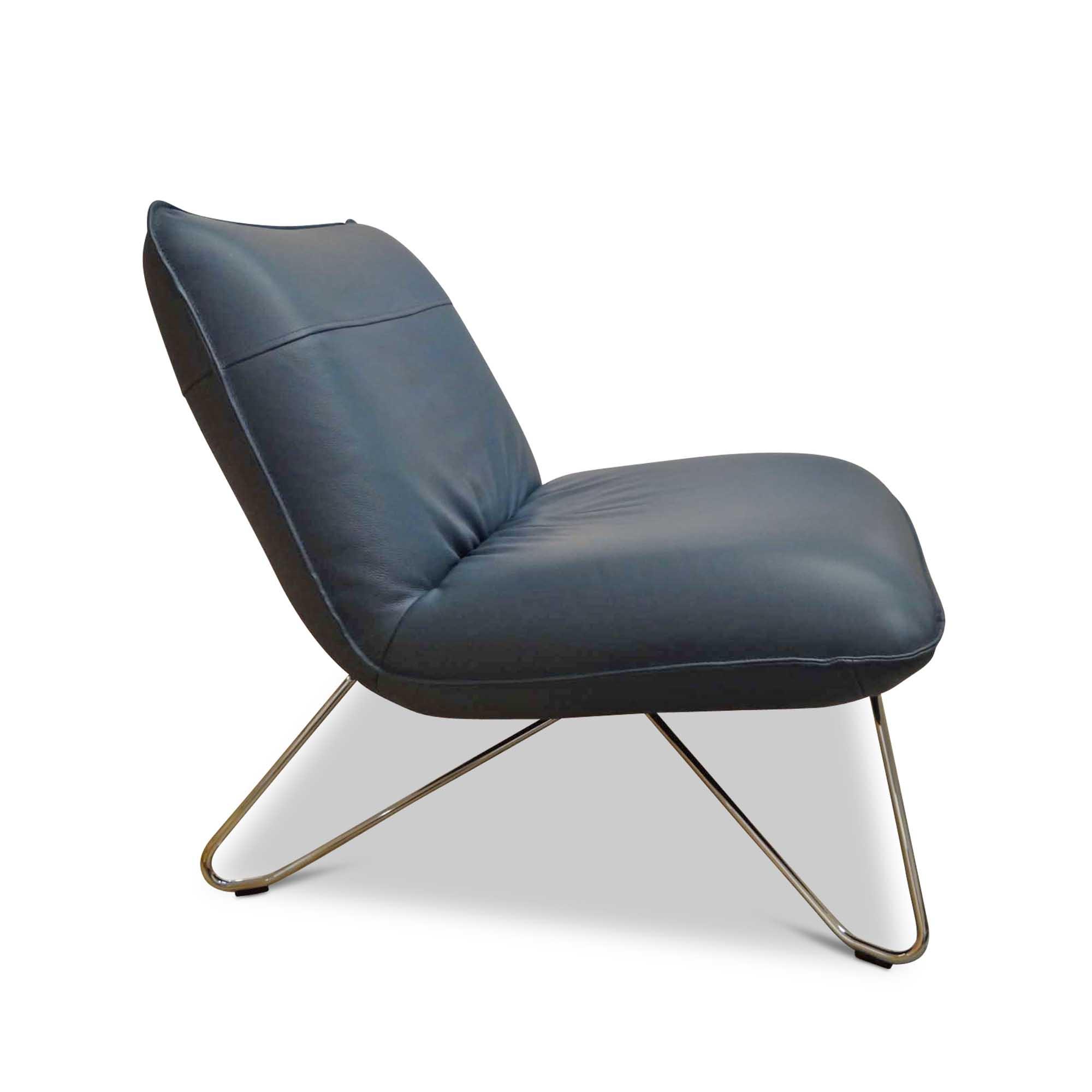 Rolf Benz Designer Sessel 394 Leder Metall Grau Chrom Petrol Ebay