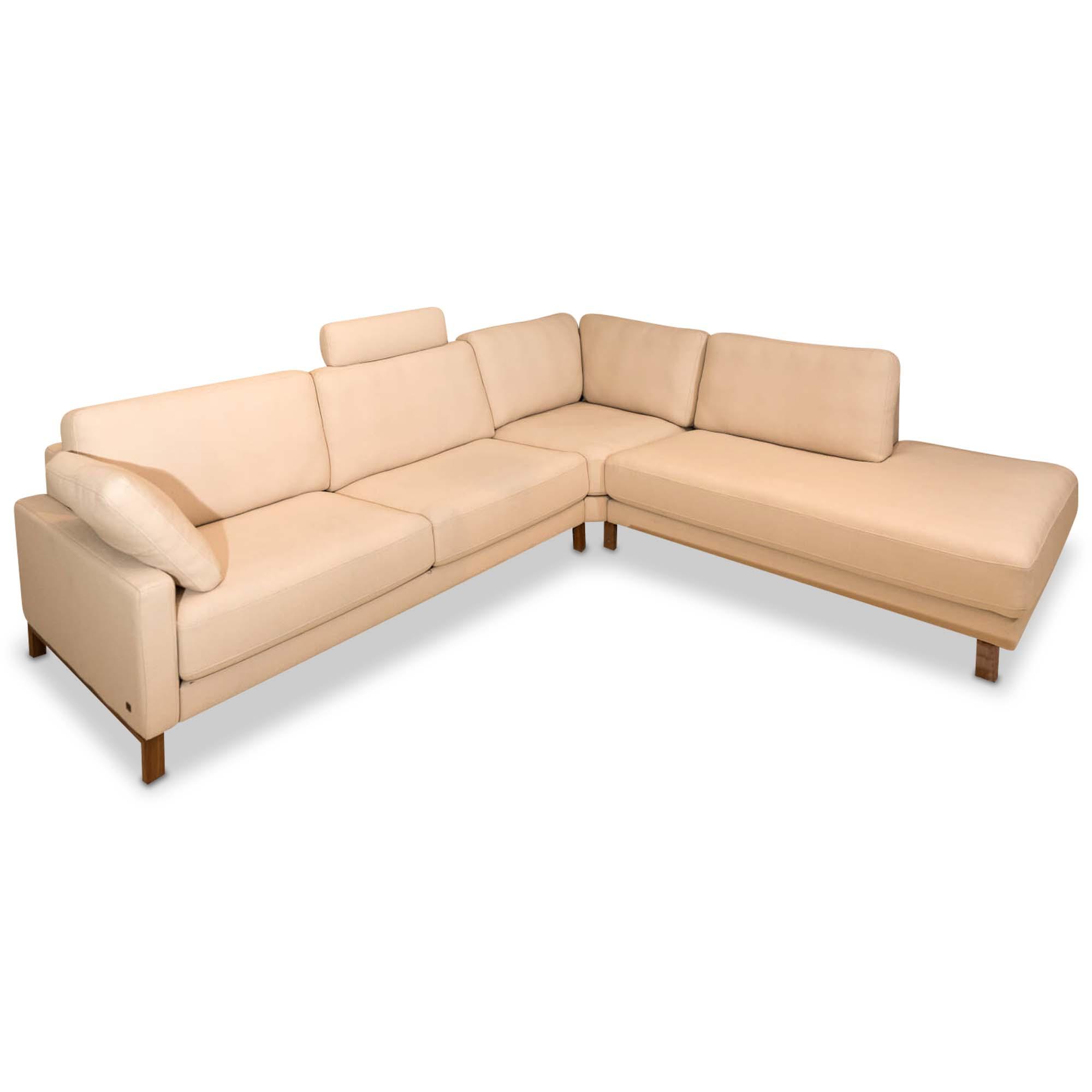ecksofa ego in stoff beige rolf benz sofas g nstig kaufen m belfirst. Black Bedroom Furniture Sets. Home Design Ideas