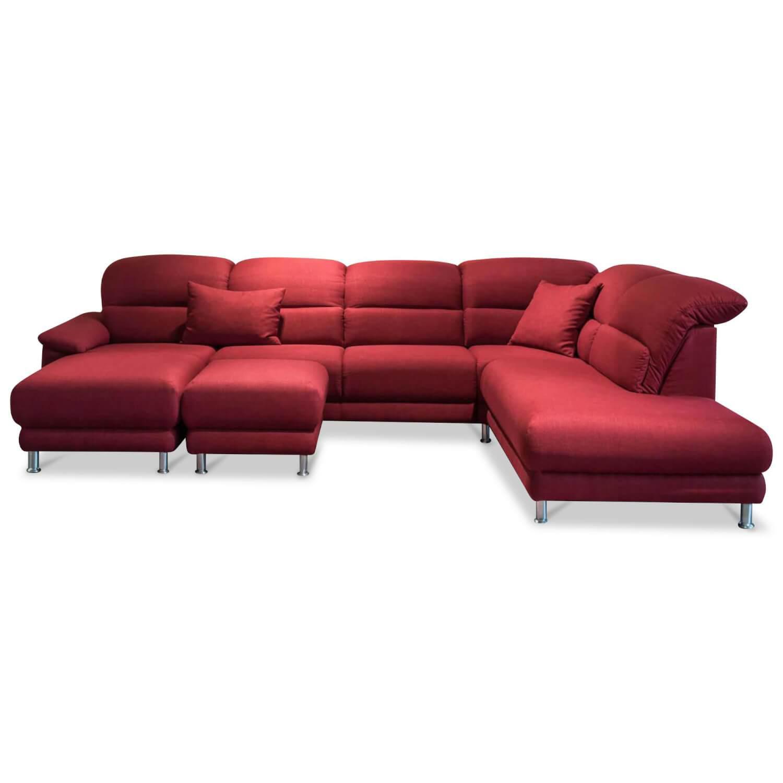 Ecksofa Mr 390 Stoff Rot Mit Hocker Musterring Gunstig Kaufen Mobelfirst