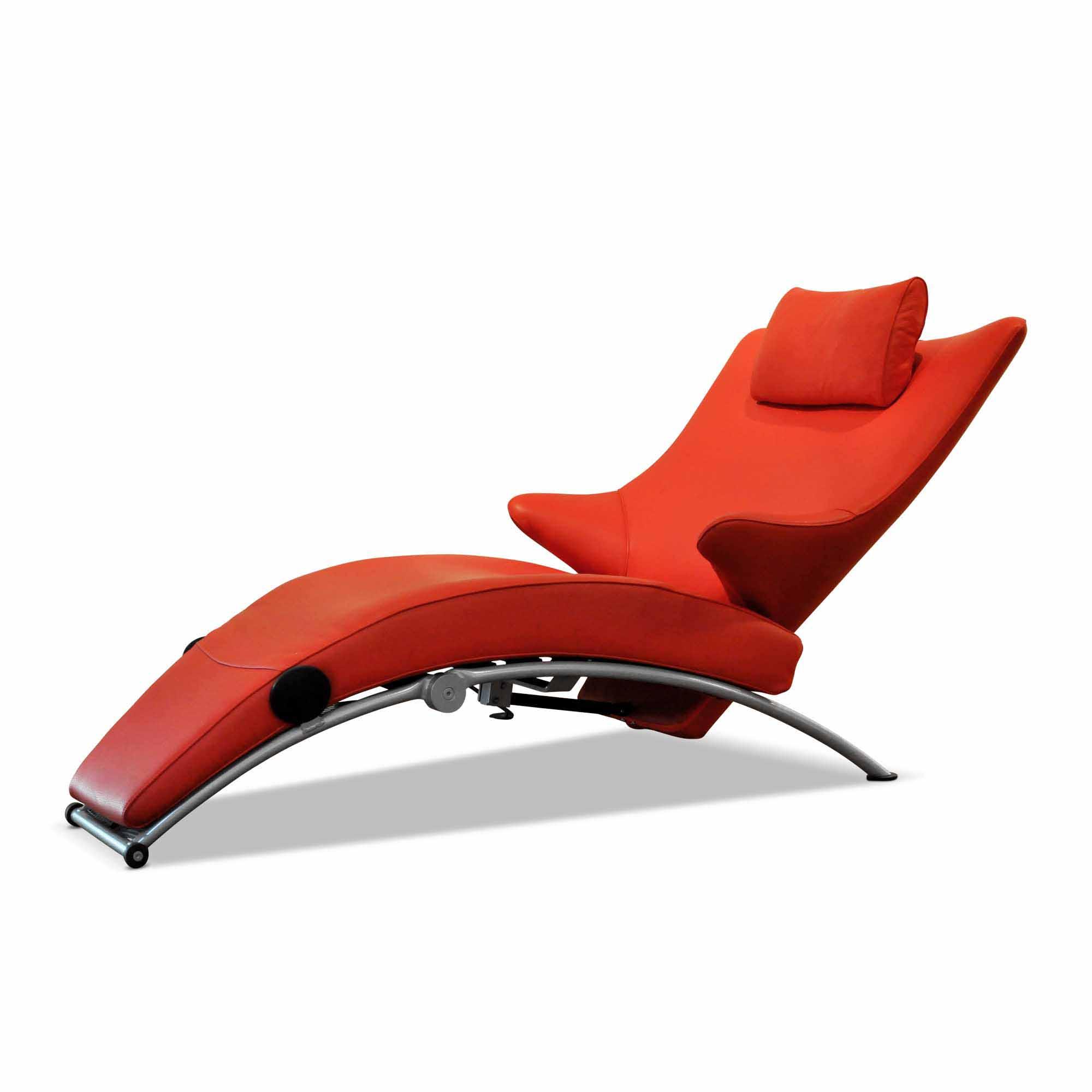WK Wohnen Designer Sessel WK 699 S (mit Liegefunktion) Leder Stahl ...