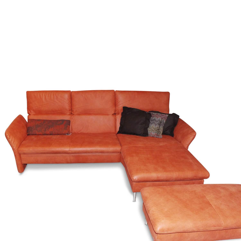 Elegant Koinor Lederfarben Referenz Von Ecksofa Vista Leder Orange Mit Hocker –
