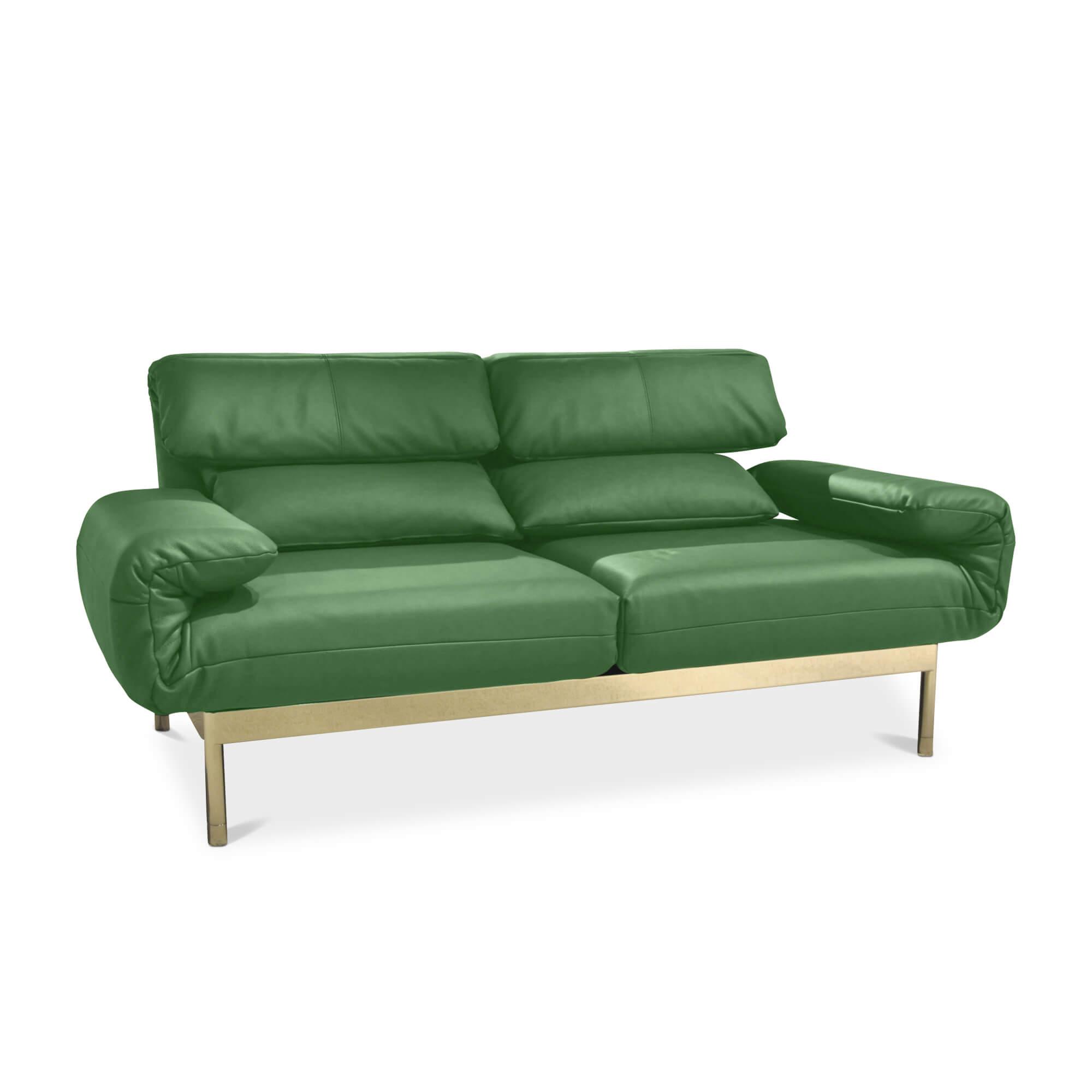 Sofa Plura In Grün Stufenlos Verstellbar Rolf Benz Sofas