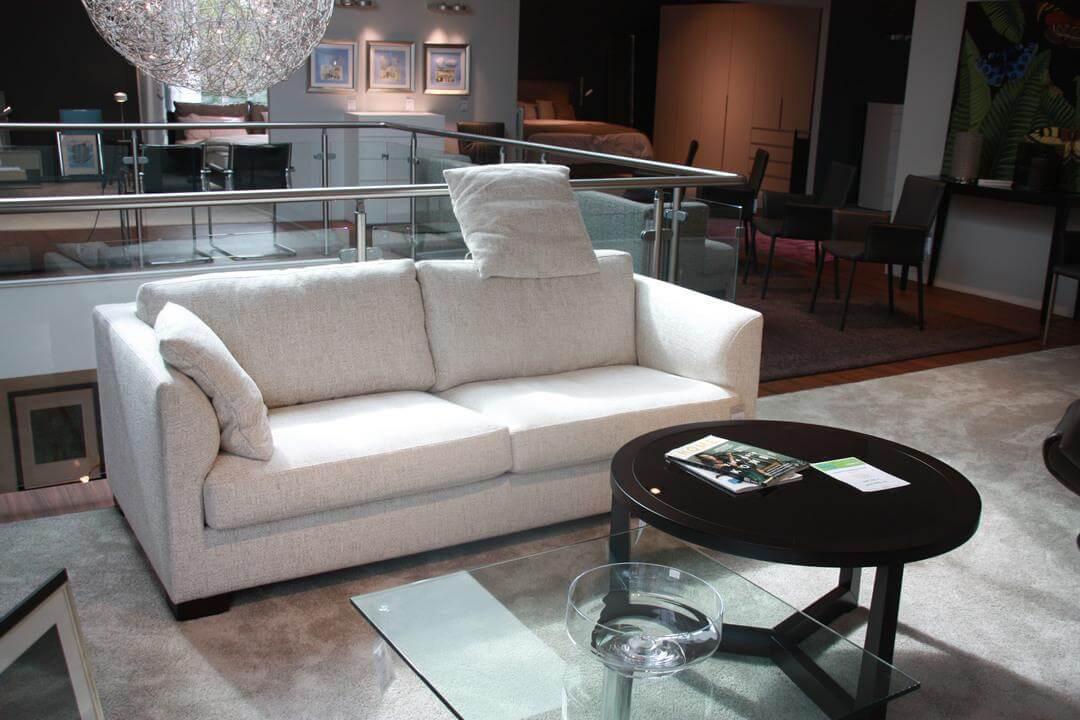 Sofa Inspiration Stoff Modena 272 Creme Fuß Wengefarbig ...