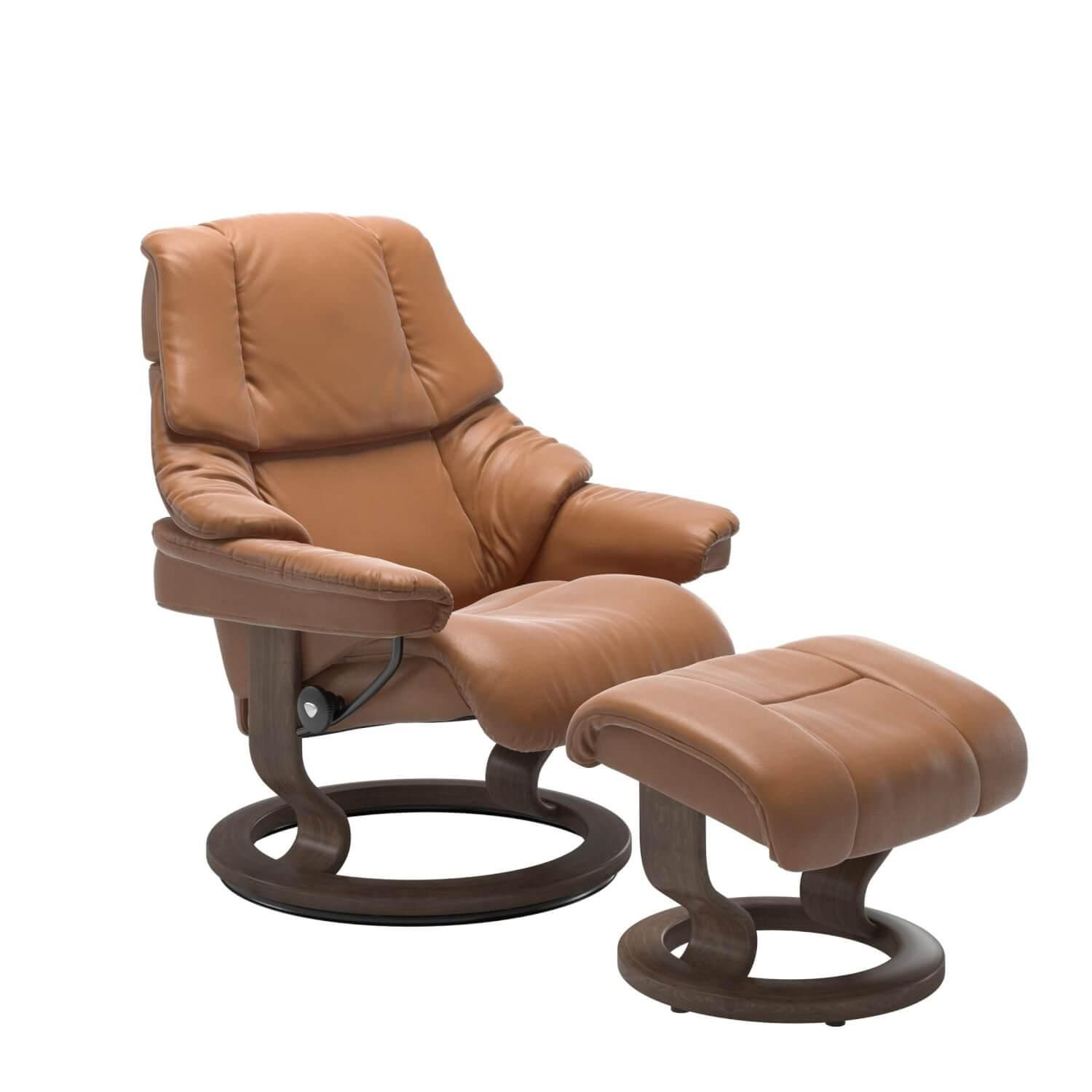 Stressless Reno M Classic Base Leder Cori Tan Mit Hocker