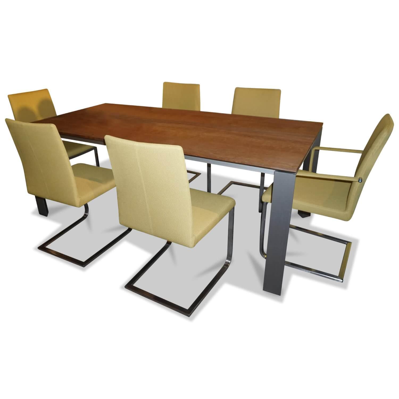 Essgruppe Grandezza Eiche Esstisch 6 Stühle – Wöstmann