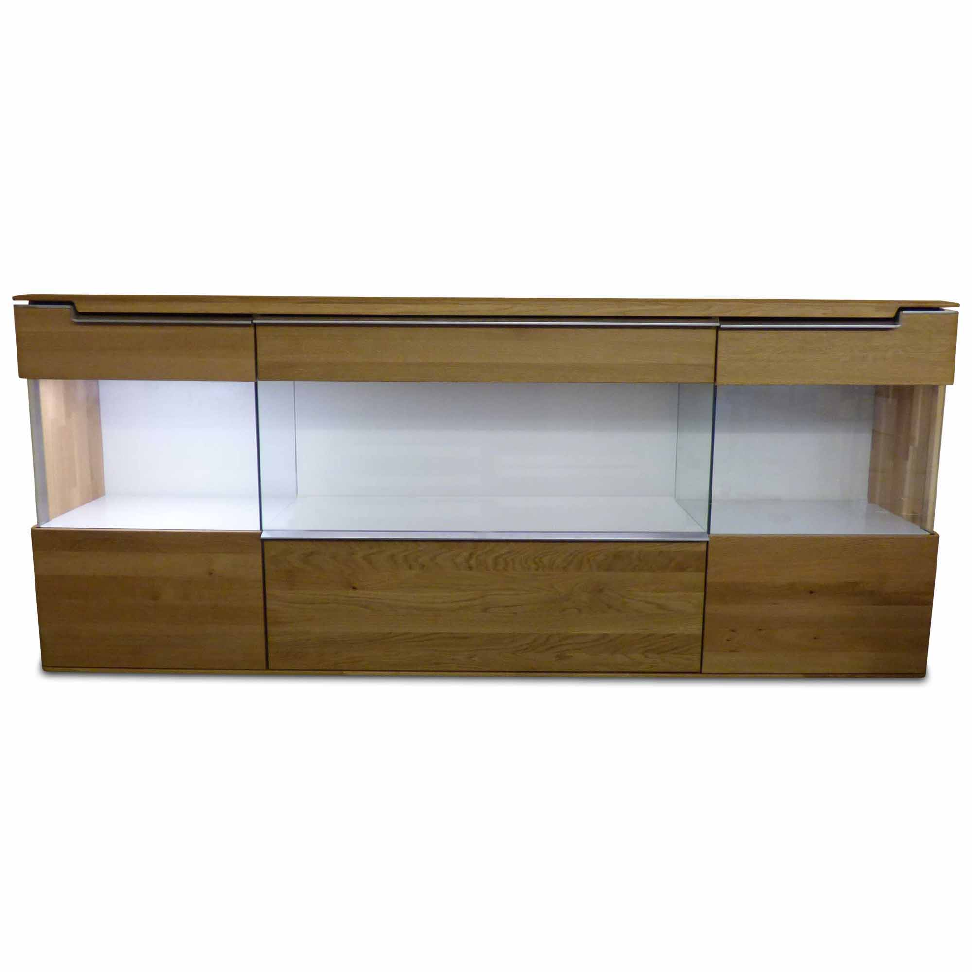 h lsta designer sideboard vedua holz glas braun wei ebay. Black Bedroom Furniture Sets. Home Design Ideas