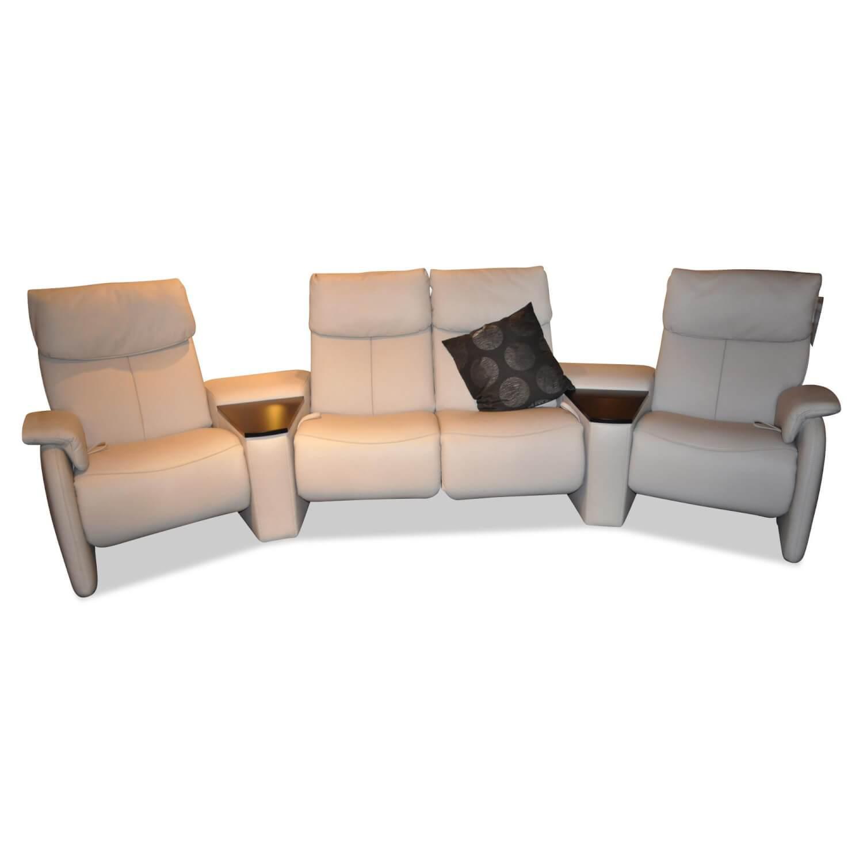 Sofa 4119 Leder Longlife Beige Mit Relaxfunktion 4 Sitzer Sofas Sofas Mobelfirst