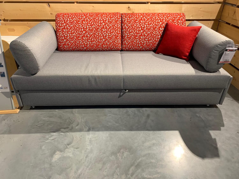 Schlafsofa Zoom Stoff 10 Grau mit inliegender Matratze ...