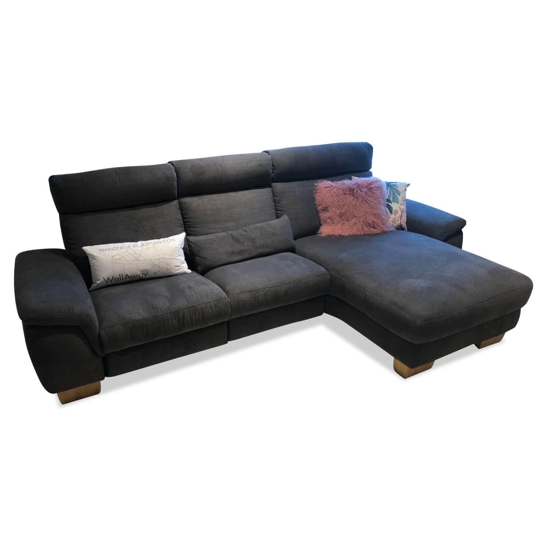 Ecksofa Bedford Stoff Grau mit Relaxfunktion   3-Sitzer ...