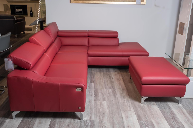 Ecksofa Mr 4775 Leder Rot Relaxfunktion Musterring Sofas