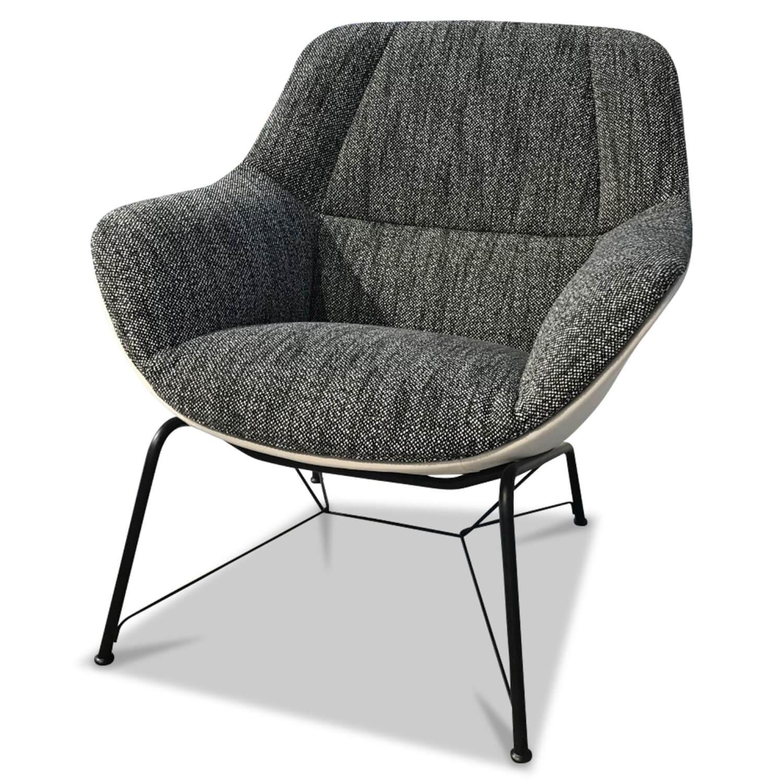 sessel prelude armchair jr 4265 leder stoff grau wei. Black Bedroom Furniture Sets. Home Design Ideas
