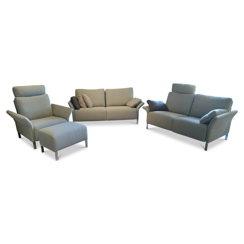 Garnitur Modena 220 Stoff 18 Prairie Blau 3 Sitzer 2 Sitzer Sessel Hocker Erpo Sofas Gunstig Kaufen Mobelfirst