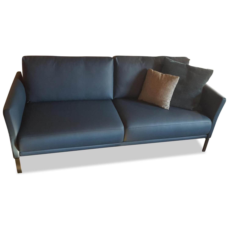Rolf Benz Designer Sofa Cara Leder Blau Zweisitzer Ebay