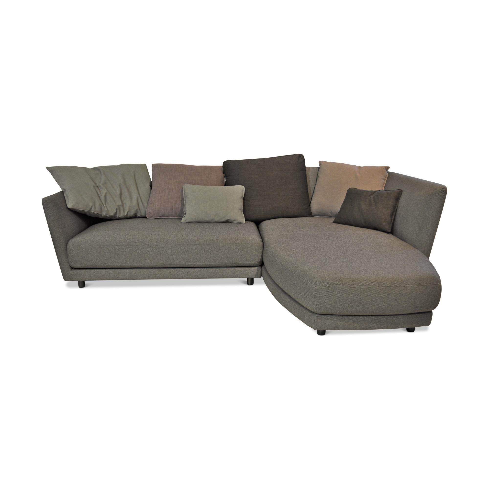 rolf benz designer ecksofa tondo 540 stoff metall grau. Black Bedroom Furniture Sets. Home Design Ideas