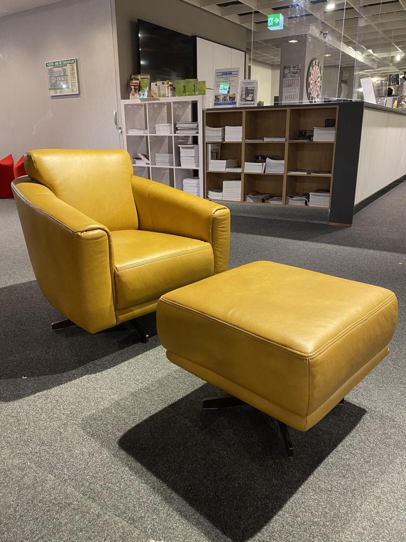Sessel Mr 2490 Leder Z69 52 Kurkuma Orange Mit Hocker Musterring Sessel Gunstig Kaufen Mobelfirst