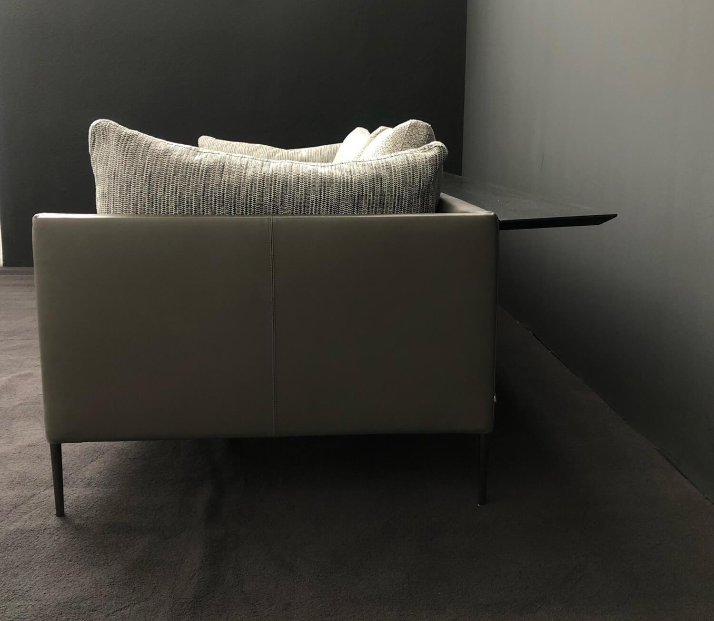 Sofa Pilotis Stoff 90/600 Braun Grün mit Rückenablage und ...