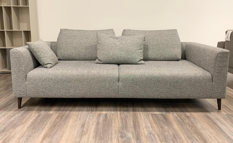 Sofa 162 Stoff Schwarz-Weiß 6000 Kegelfuß Eiche Dunkel mit ...